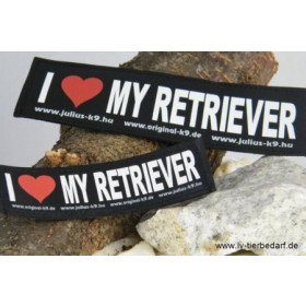 I LOVE MY RETRIEVER - Logo groß, 1 Paar!