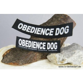 OBEDIENCE DOG - Logo groß, 1 Paar!
