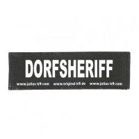 DORFSHERIFF - Logo klein, 1 Paar!
