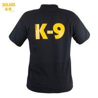 K9 Polo Shirt for men, 100% cotton, black, size S