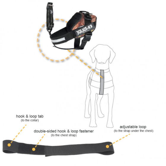 I -Belt 2011 -Police dog safety belt for all Julius-K9 harnesses size 1-2
