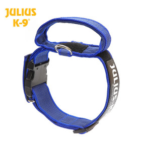 K9 Collar with closable handle and safety lock, variable Labels - 40 mm 38-53 cm, nylon, blue 2015