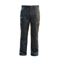 K9® Zipp-off Hose / Baumwolle-PE / imprägniert, kratzfest- schwarz-neon/   Gr.42