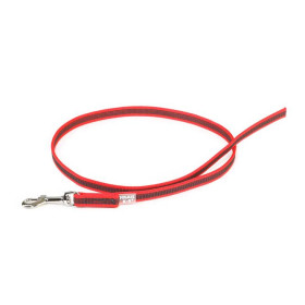K9 Super-grip leash red - grey diam.14mm / 1 m without handle, max for 30 kg dog