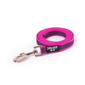 K9 Super-grip leash pink - grey diam.14mm / 1,2 m with handle, max for 30 kg dog