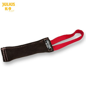 Tug leather 20 x 3 cm outside sewn - 1 handle