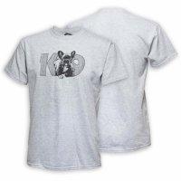 Original K9® T-Shirt French bulldog Gr.:L- grey