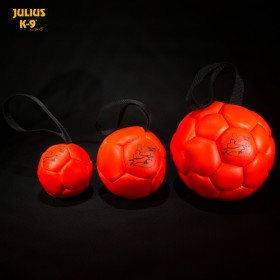 Fluorescens ball with string diam.60mm  - smooth orange
