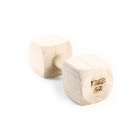 Dumbbells 2000gr   hard wood, from one piece