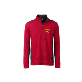 Mens Outdoor Strickfleece Jacket