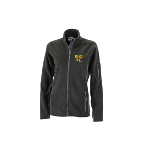 Ladies Outdoor Fleece Jacket - Black/Carbon - Gr. S