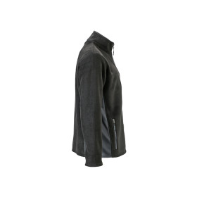 Mens Outdoor Fleece Jacket - Black/Carbon - Gr. S