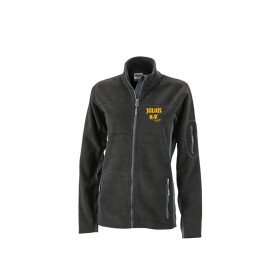 Mens Outdoor Fleece Jacket - Black/Carbon - Groesse 4XL