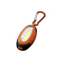 Karabiner COB Licht, orange / schwarz