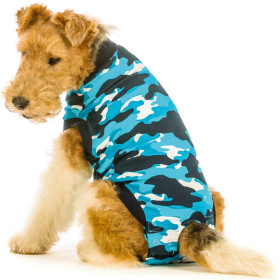 """Recovery Suit """"XXXS"""" Camouflage blue, Dog"""