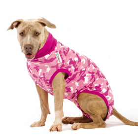 """Recovery Suit """"XXS"""" camouflage pink, Dog"""
