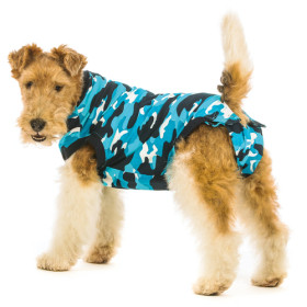 """Recovery Suit """"S"""" Camouflage blau Hund"""