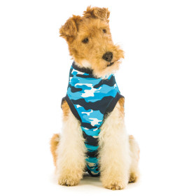 """Recovery Suit """"S+"""" Camouflage blau Hund"""
