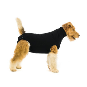 """Recovery Suit """"M"""" Black, Dog"""