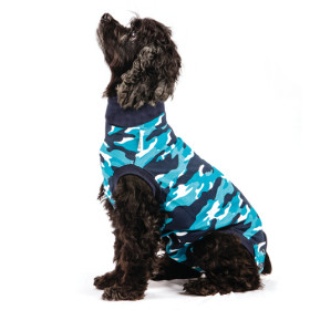 """Recovery Suit """"M"""" Camouflage blau Hund"""