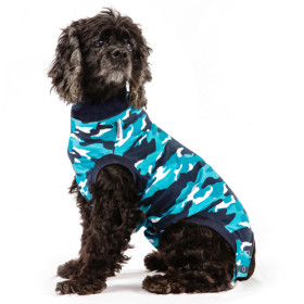 "Recovery Suit ""M+"" Camouflage blau Hund"