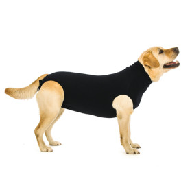 """Recovery Suit """"L"""" Black, Dog"""