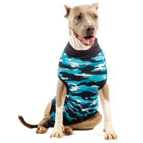 "Recovery Suit ""L"" Camouflage blau Hund"