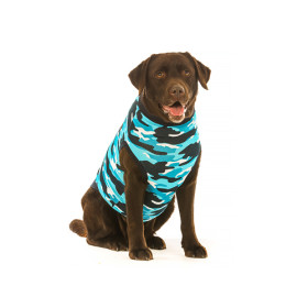"""Recovery Suit """"XL"""" Camouflage blau Hund"""