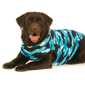 """Recovery Suit """"XXL"""" Camouflage blue, Dog"""