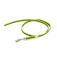 Color & Gray - Gumierte leine -Neon-Grau 14mm / 1 m ohne Schlaufe, max für 30 kg Hunde