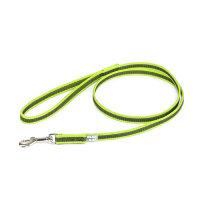Color & Gray - Gumierte leine -Neon-Grau 14mm / 1,2 m mit Schlaufe, max für 30 kg Hunde