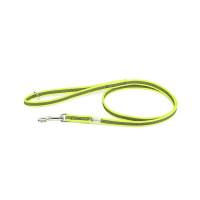 Color & Gray - Gumierte leine -Neon-Grau  14mm / 1,2 m mit Schlaufe und mit O ring, max für 30 kg Hunde