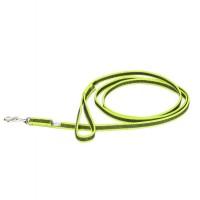 Color & Gray - Gumierte leine -Neon-Grau 14mm / 2 m mit Schlaufe, max für 30 kg Hunde
