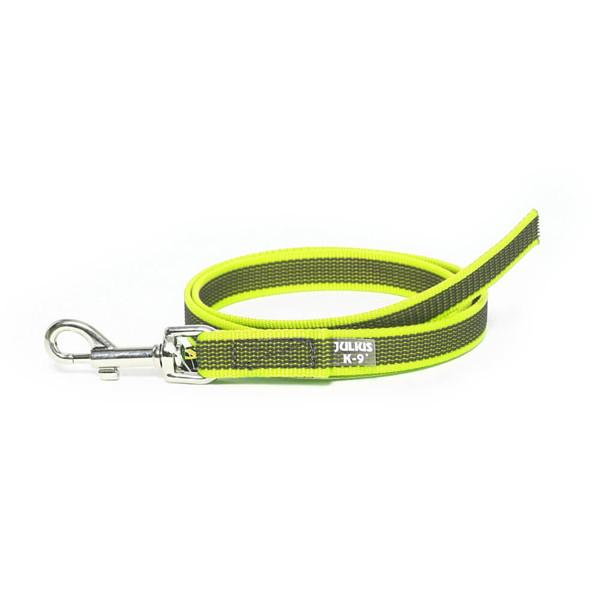 Color & Gray - Gumierte leine - Neon-Grau  20mm / 1 m ohne Schlaufe, max für 50 kg Hunde