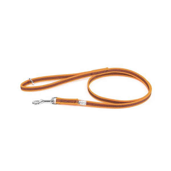 Color & Gray - Gumierte leine -Orange-Grau  14mm / 1,2 m mit Schlaufe und mit O ring, max für 30 kg Hunde