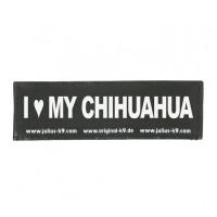 I LOVE MY CHIHUAHUA - Logo groß, 1 Paar!