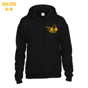K9 Pullover, black with hood size 5XL