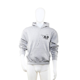 K9 Pullover, gray with hood size S